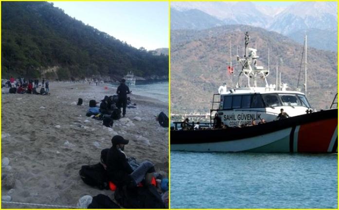 Fethiye'de Teknede 254 Düzensiz Göçmen Yakalandı