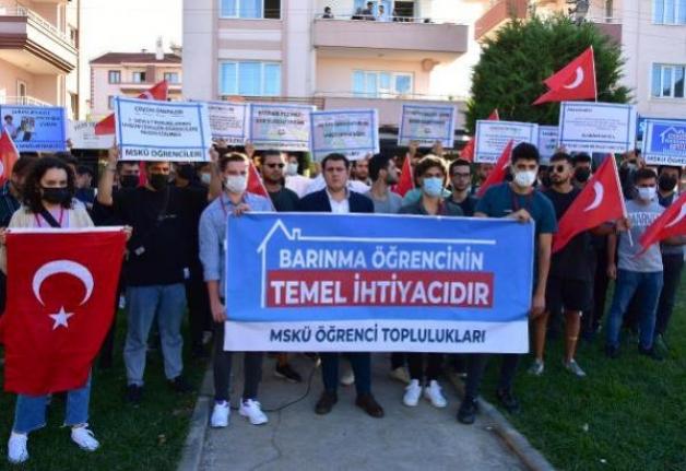 Muğla'daki Öğrencilerden 'Barınma' Protestosu