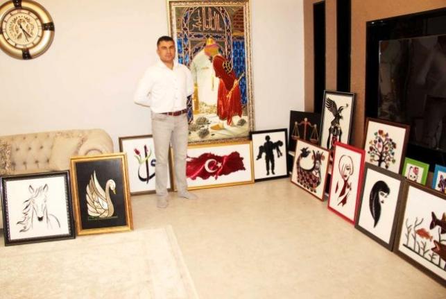 Terör Gazisi Evini Sanat Atölyesine Çevirdi