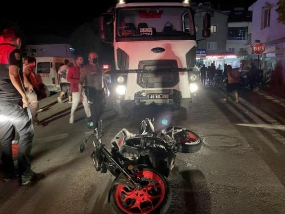 Fethiye'de Çöp Kamyonuyla Çarpışan Motosikletin Sürücüsünden Acı Haber