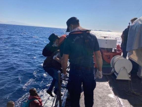 Marmaris'te 26 Kaçak Göçmen Kurtarıldı