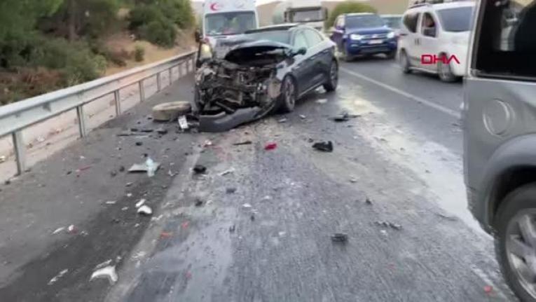 Muğla'da Zincirleme Kaza: 5 Araç Birbirine Girdi