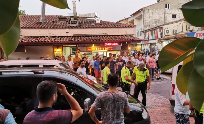 FETHİYE'DE DENİZLİSPOR KULÜP BAŞKANI VE ARKADAŞLARI POLİSLERE SALDIRDI