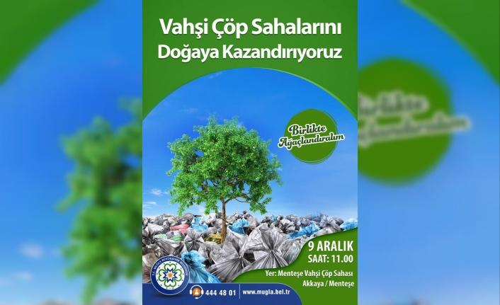 Büyükşehir Eski Çöp Sahalarına 3 Bin 500 Fidan Dikecek