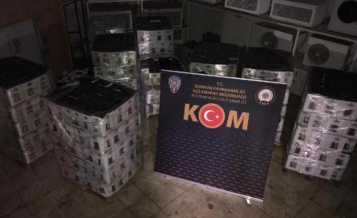 Bodrum'da Bir Otelde 7 Bin Şişe Sahte İçki!