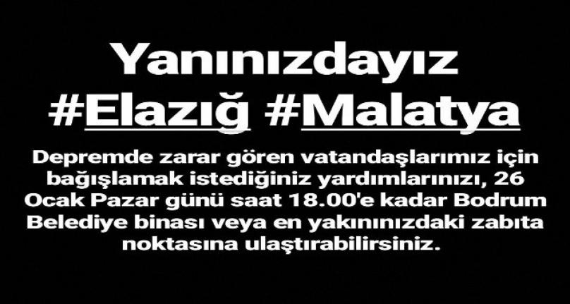 Bodrum ve Marmaris Belediyeleri Elazığ için Harekete Geçti