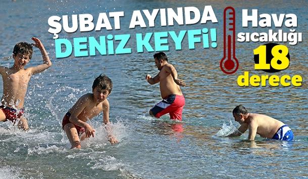 Antalya'da Kış Ortasında Deniz Keyfi!