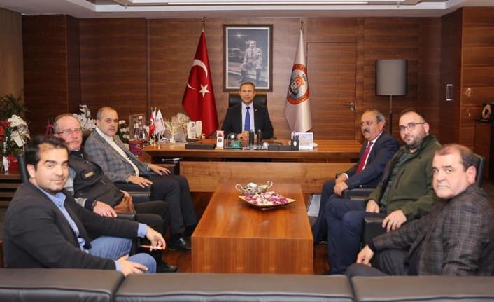 Başkan Uzundemir ve MHP İl Başkanı Korkmaz'dan MUTSO Ziyareti