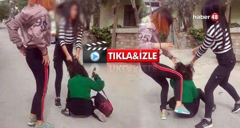 Denizli'de Kızlar Çete Kurdu Sokak Ortasında Çocukları Darp Etti!