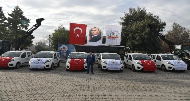 Milas Belediyesi Filosuna 6 Yeni Araç Kattı