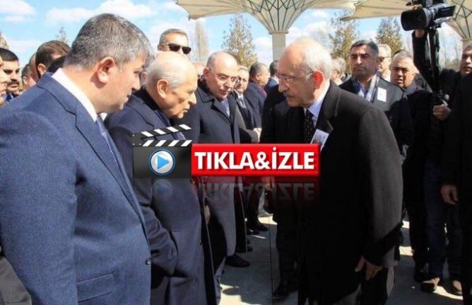 Bahçeli Şehit Cenazesinde Kılıçdaroğlu'nun Elini Sıkmadı!