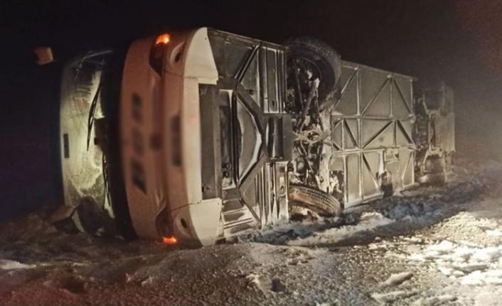 Bodrum'dan Gaziantep'e Giden Yolcu Otobüsü Devrildi: 37 Yaralı!