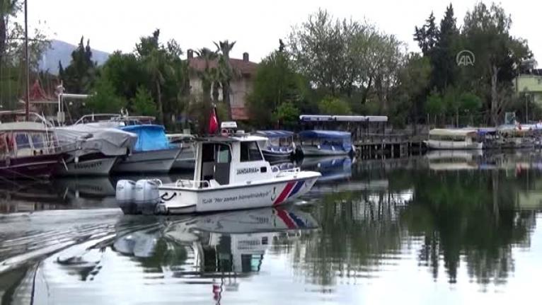 Dalyan'da Tekne Turu Seferleri Tedbir Amaçlı Durduruldu