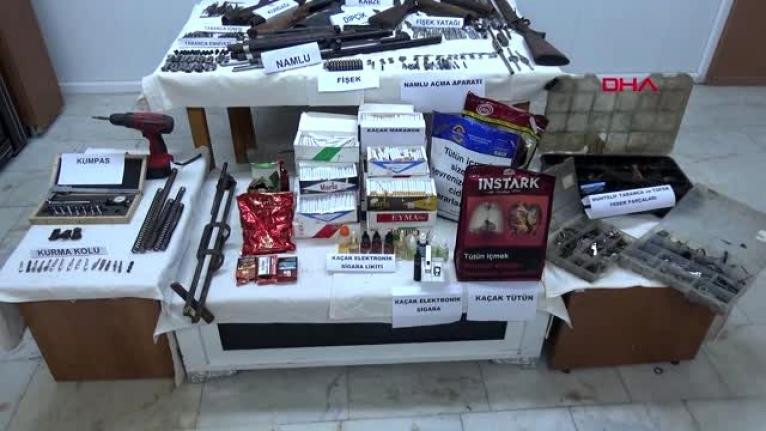 Emniyet ve Jandarmadan Ortak Ruhsatsız Silah ve Tütün Operasyonu