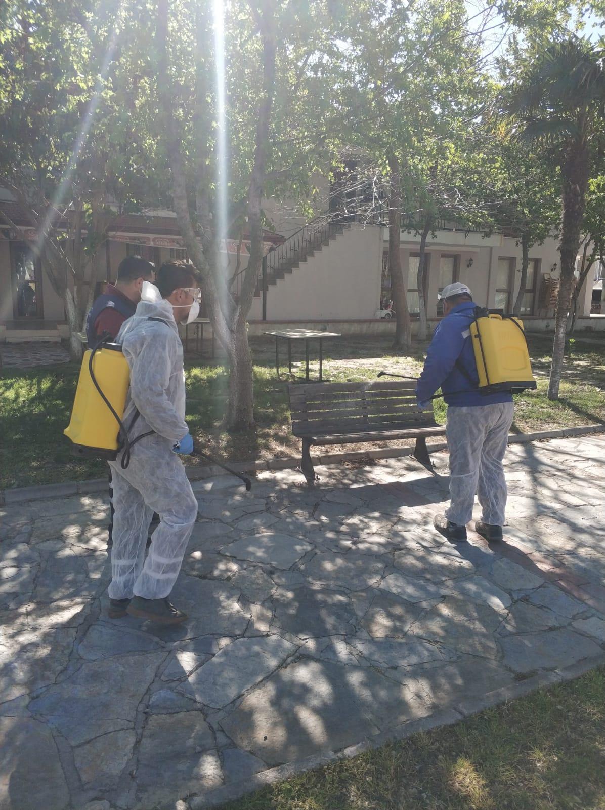 Ortaca Belediyesi'nin Dezenfekte Çalışmaları Sürüyor