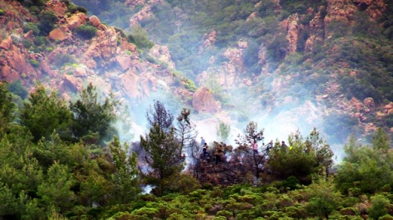Marmaris'te Çıkan Orman Yangını!