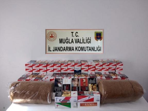 Muğla'da Kaçak Tütün ve Sigara Operasyonu