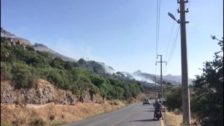 Muğla Yine Alev Aldı: Bodrum'da Makilik ve Otluk Alanda Yangın!