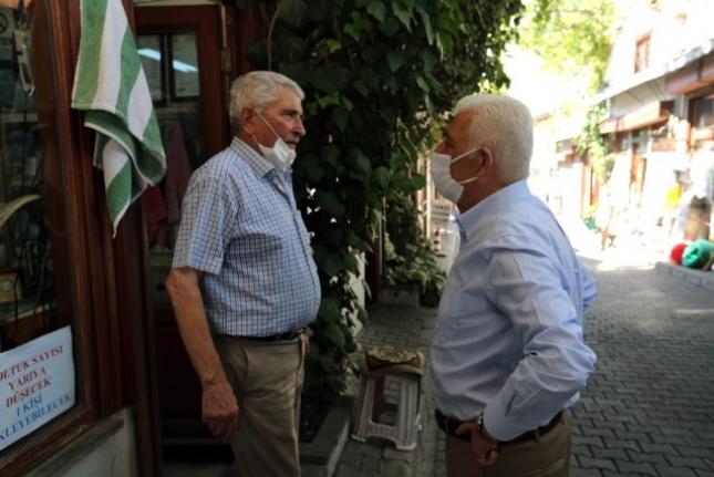 Başkan Gürün'den Arasta Esnafına Ziyaret