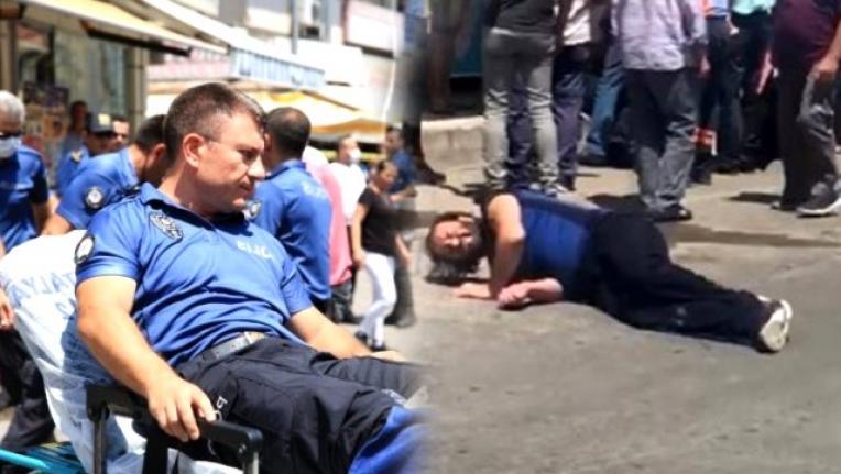Hakkında Arama Kararı Bulunan Şahıs Bıçakla 2 Polisi Yaraladı