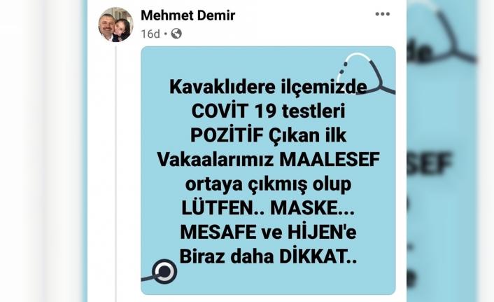 Başkan Demir Kavaklıdere'deki İlk Korona Vakasını Duyurdu!