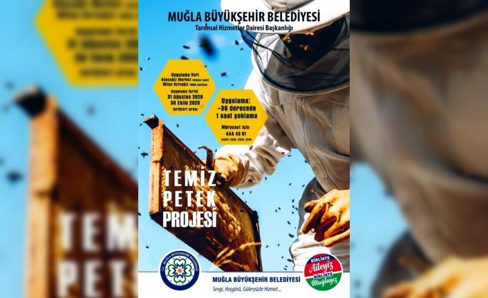 Büyükşehir'den 'Güvesiz Petek Güvenli Bal İçin Temiz Petek' Projesi