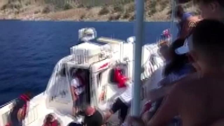 Fethiye'de Bir Turist Gezi Teknesinden Düşerek Yaralandı