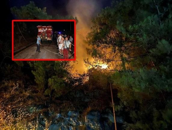 Fethiye'de Dün Akşam Çıkan Orman Yangını 6 Saatte Söndürüldü