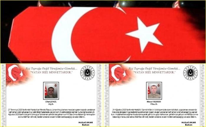 Hakkari'deki Tatbikat İle Mersin'deki Kazada 2 Askerimiz Şehit Oldu