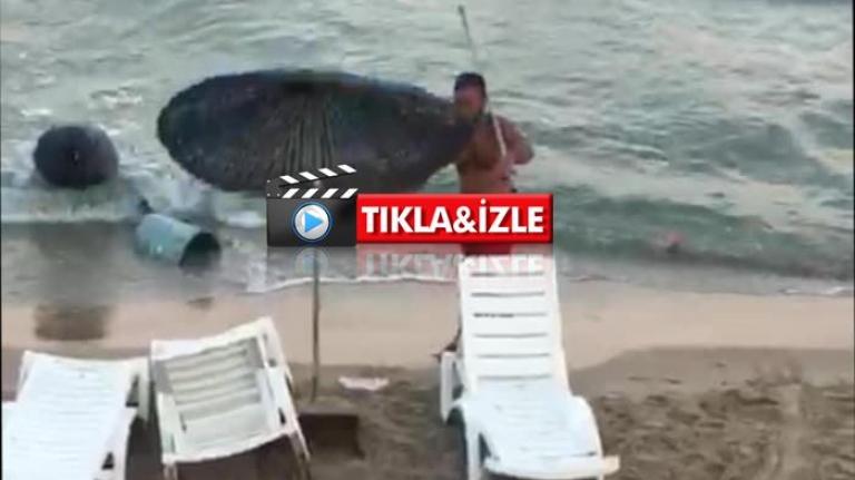 Kuşadası'nda Çöp Kutularını Denize Atan Kişi Gözaltına Alındı!