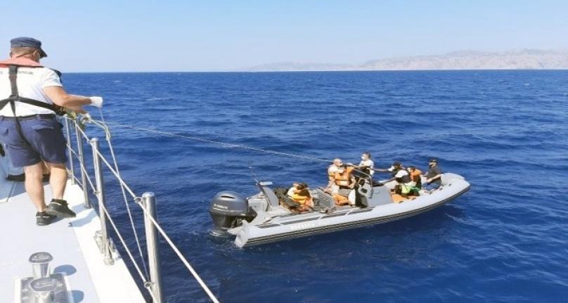 Marmaris'te 23 Sığınmacı Sahil Güvenlik Tarafından Kurtarıldı