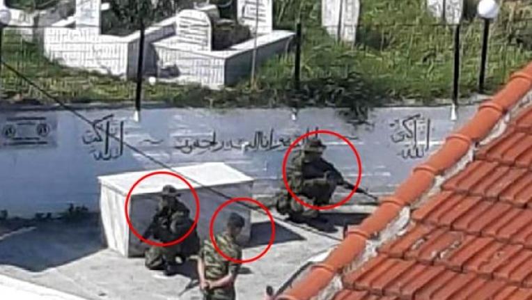 Yunan Askerleri Batı Trakya'daki Türk Köyünde Silahlı Tatbikat Yaptı