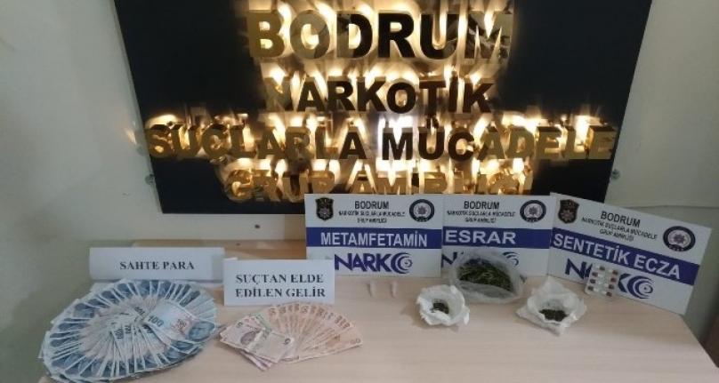 Bodrum'da Sahte Para ve Uyuşturucu Ele Geçirildi