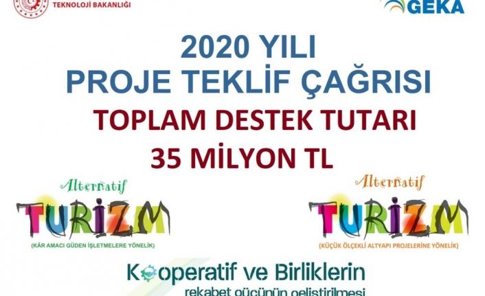GEKA 2020 Yılı Proje Teklif Çağrısı Toplam Bütçe 35 Milyon