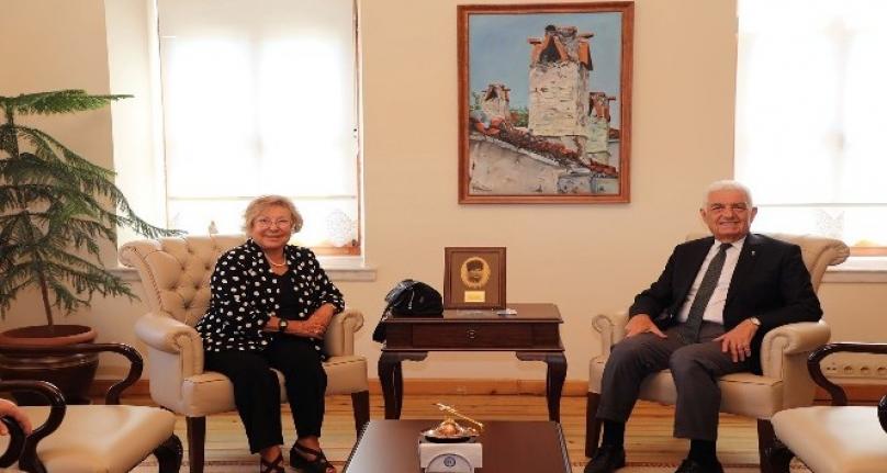 İmren Aykut'tan Başkan Gürün'e Ziyaret