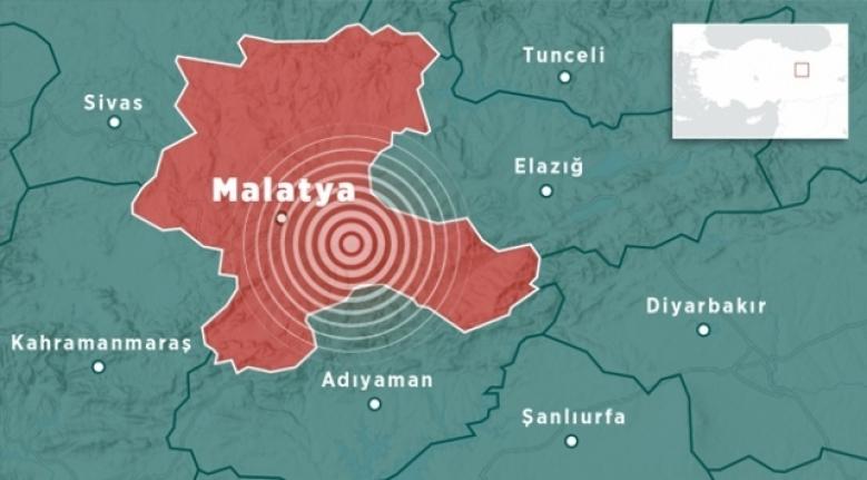 Malatya'da 4,6 Büyüklüğünde Deprem!