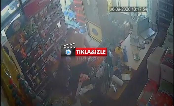 Milas'ta Markete Giren Bir Adam İşletme Sahibi Kadını Darbetti!