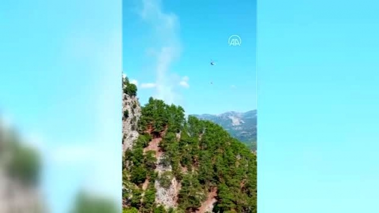 Muğla'da Çıkan Orman Yangını Kontrol Altına Alınmaya Çalışılıyor