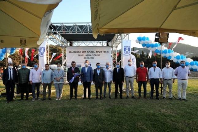 Yalıkavak Çok Amaçlı Spor Tesisi Temel Atma Töreni Düzenlendi