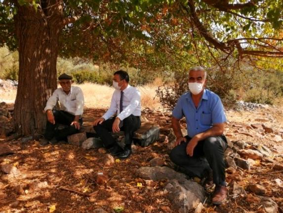 Kaymakam Arslan yaşlı Vatandaşı Evinde Ziyaret Etti