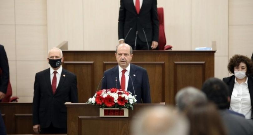KKTC Cumhurbaşkanı Seçilen Ersin Tatar, Yemin Ederek Göreve Başladı