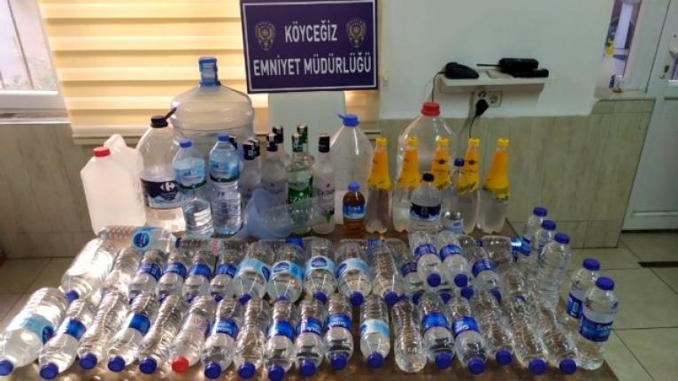Köyceğiz'de 60 Litre Sahte Alkol Ele Geçirildi