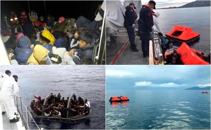 Marmaris, Bodrum ve Datça Açıklarında 232 Kaçak Göçmen Kurtarıldı