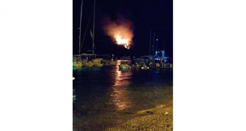 Milas'ta Tekneden Atılan Havai Fişek Ormanı Yaktı
