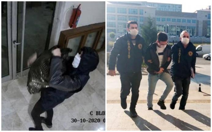 Ayakkabı Hırsızı Önce Kameraya Ardından Polise Yakalandı
