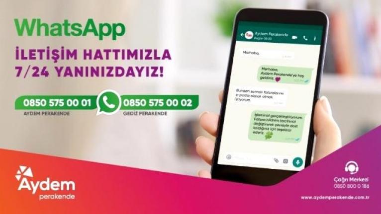 Aydem ve Gediz Perakende Artık WhatsApp'tan da Hizmet Verecek