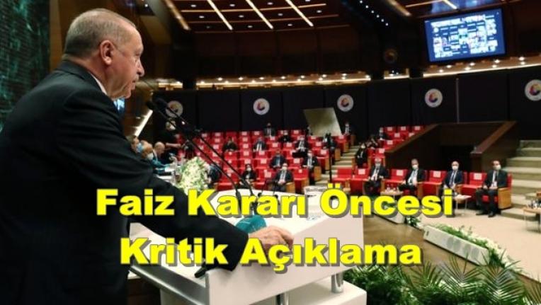 Cumhurbaşkanı Erdoğan: Yatırımcımızı Yüksek Faize Ezdirmemeliyiz