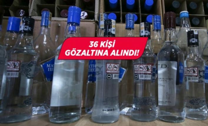 Muğla'da Sahte İçki ve Kaçakçılık Operasyonu: 36 Gözaltı