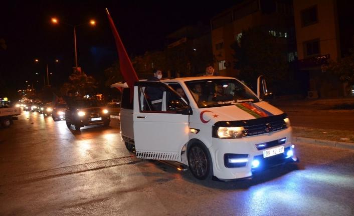 Ülkücülerden Azerbaycan'a Konvoylu Destek