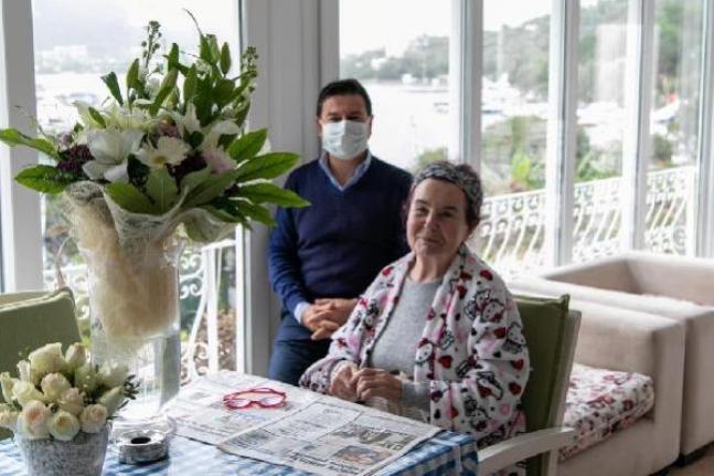 Başkan Aras'tan Fatma Girik'e Doğum Günü Ziyareti